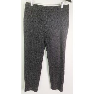St. John Emma Black Spotted Career Wear Pants